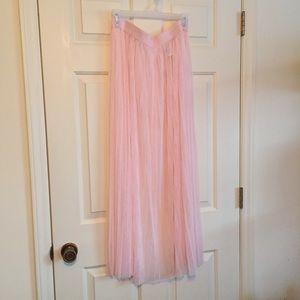 Sheer maxi Coachella skirt!
